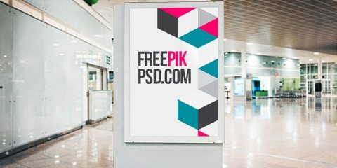 Graphic Ghost - Free Airport Poster Mockup