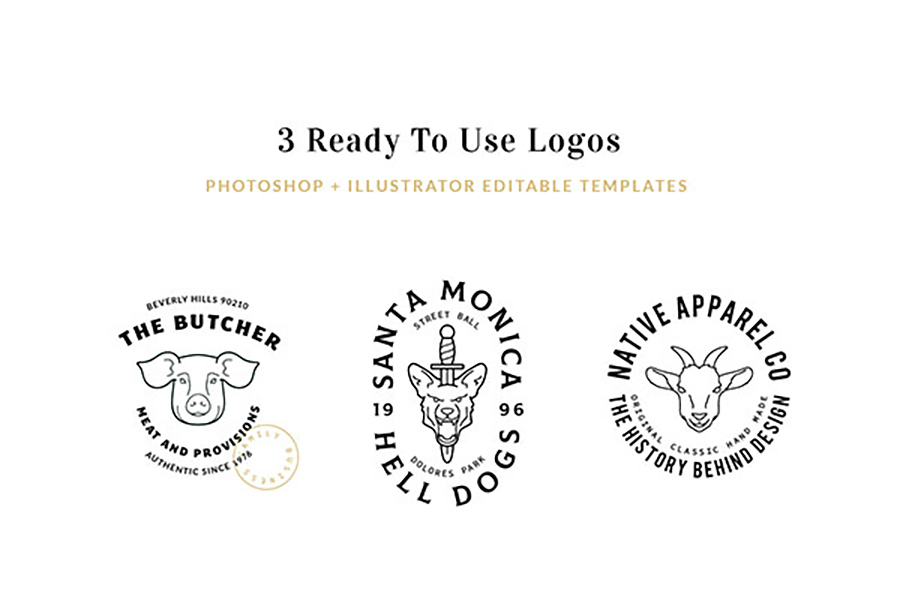 Graphic Ghost - The Logo Kit - Free Sample