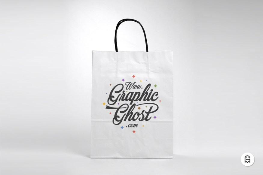 Graphic Ghost - Free Paper Bag Mockup 02
