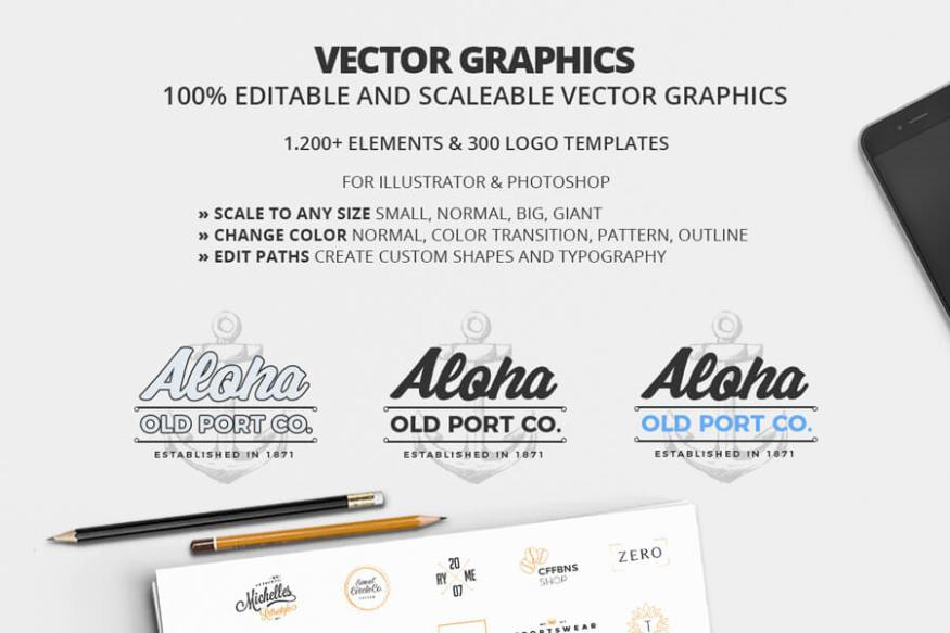 Graphic Ghost - All In One Logo Creation Kit 03