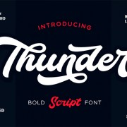 Graphic Ghost - Thunder Bold Script Font