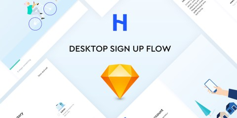 Graphic Ghost - Free Sketch Sign Up Flow UI