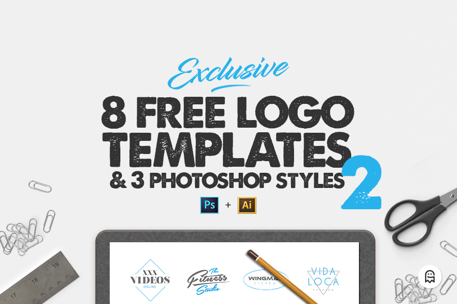 Graphic Ghost - 8 Free Logo Templates 2