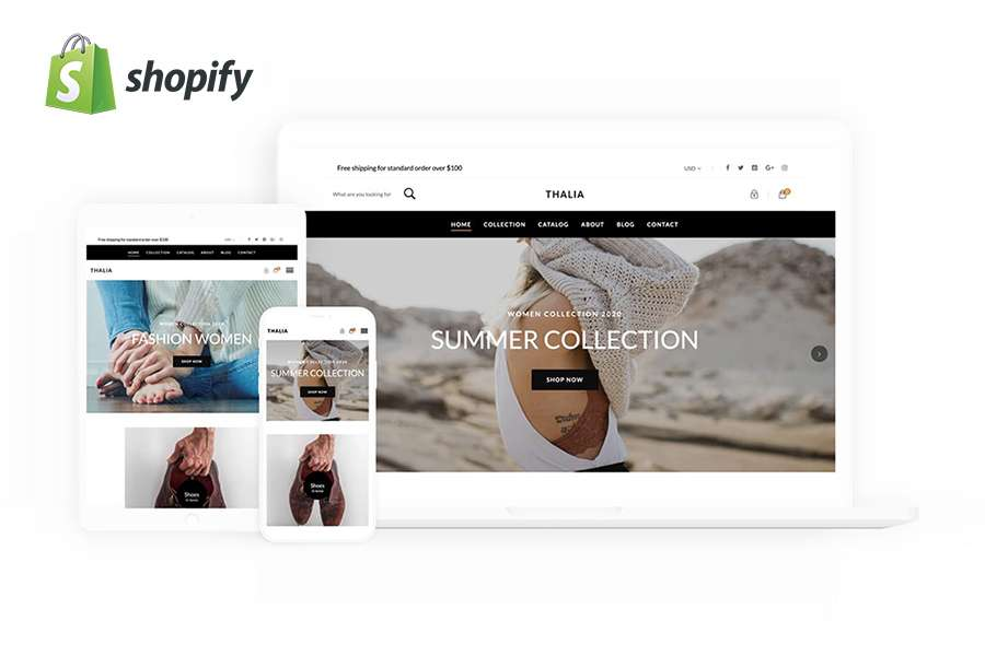 Graphic Ghost - Thalia - Free Shopify Theme