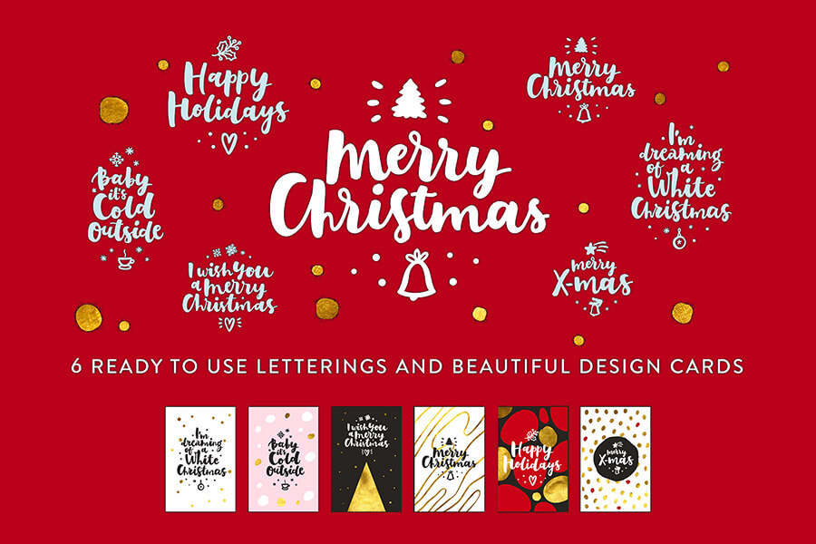 Graphic Ghost - Merry Christmas Lettering Templates