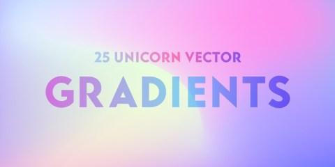 Graphic Ghost - 25 Unicorn Vector Gradients