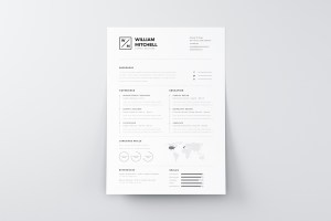 Graphic Ghost - Free Minimalistic and Clean Resume Template