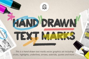 Graphic Ghost - Hand Drawn Text Marks