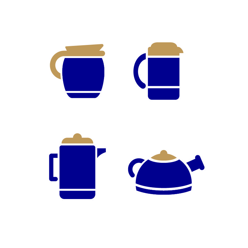 Download Coffee Maker Set Icons Design Free Vector File Download