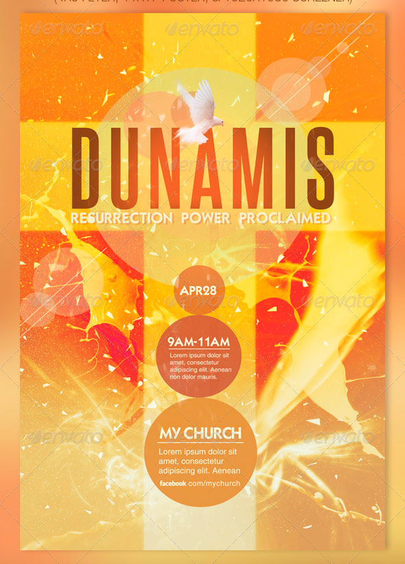 Dunamis Flyer, Poster and Screener Template