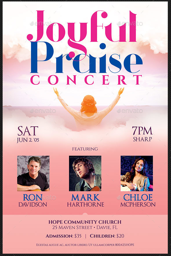 Joyful Praise Concert Flyer and Poster Template
