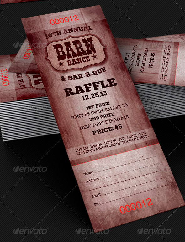 Amazing ticket templates inspiks market for Bbq tickets template