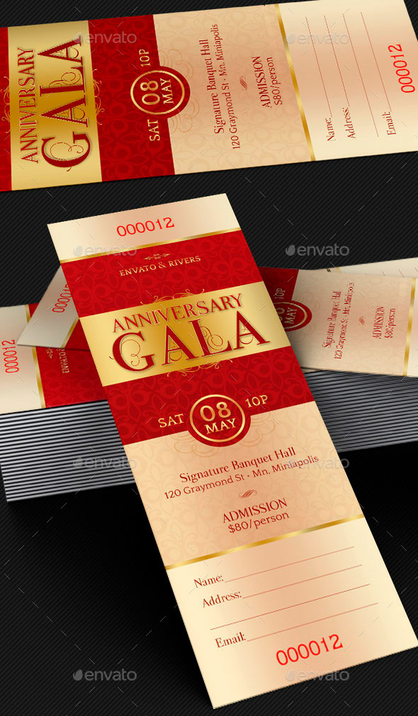 Amazing ticket templates for church and fundraising events for Fundraiser dinner tickets template