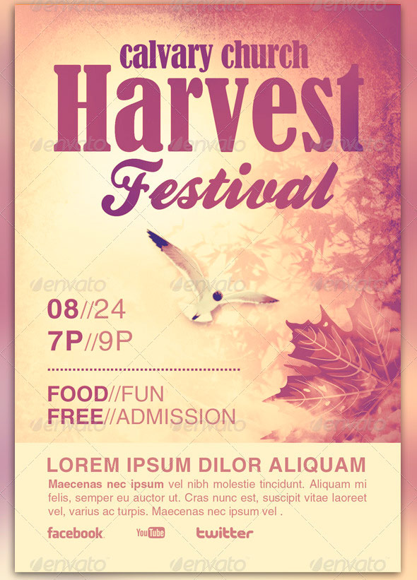 Autumn Festival Church Flyer Template