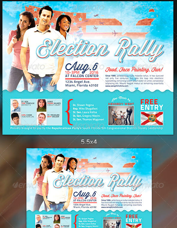 Political and Voting Flyer Templates – Azure Flyer Template