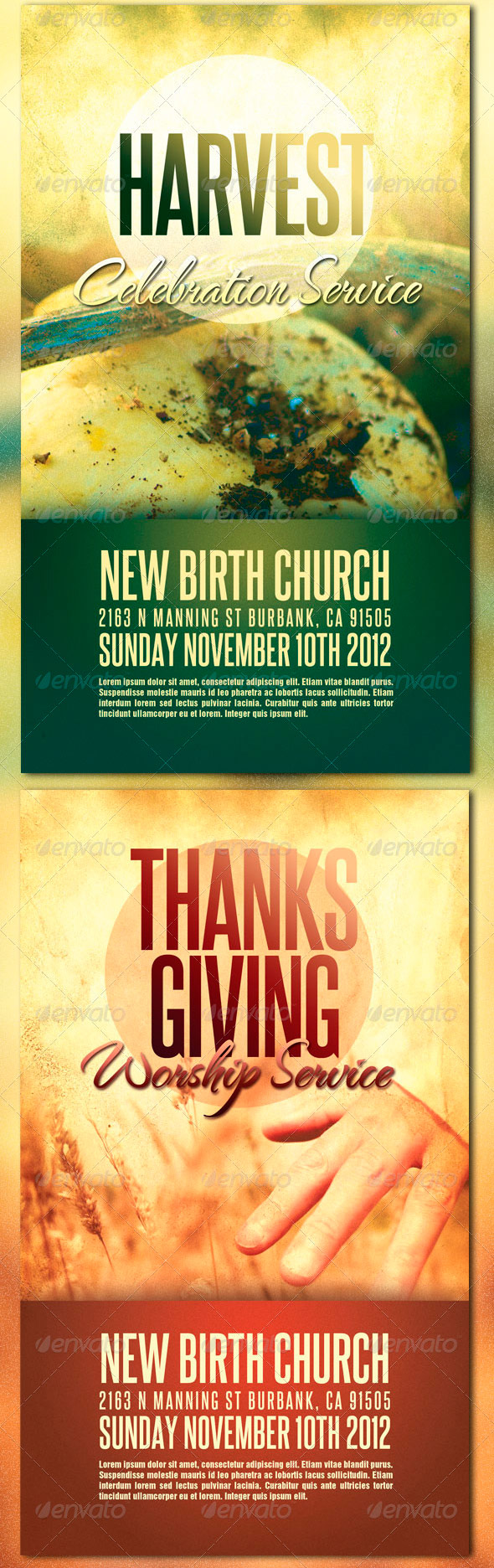 beautiful harvest and thanksgiving flyer templates