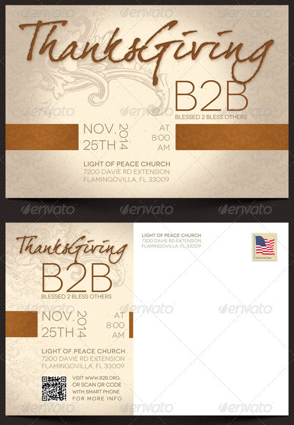 Thanksgiving Charity Flyer and CD Template
