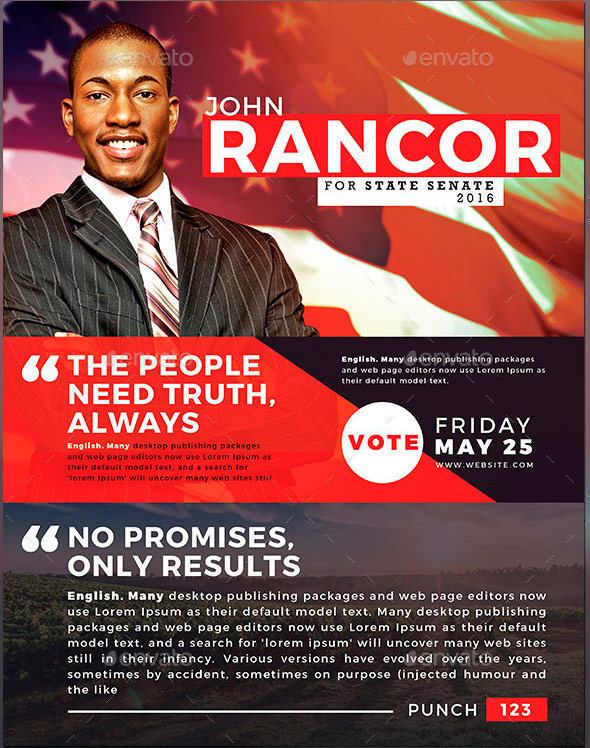 Political and Voting Flyer Templates | GraphicMule