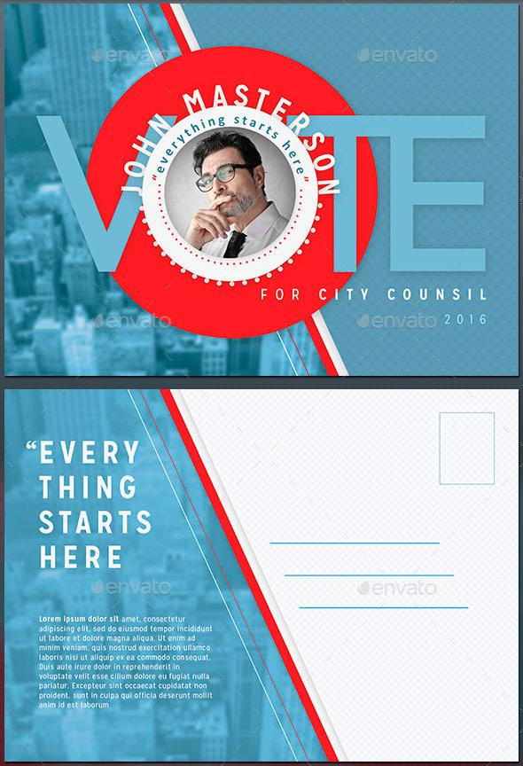 vote political flyer mailer template