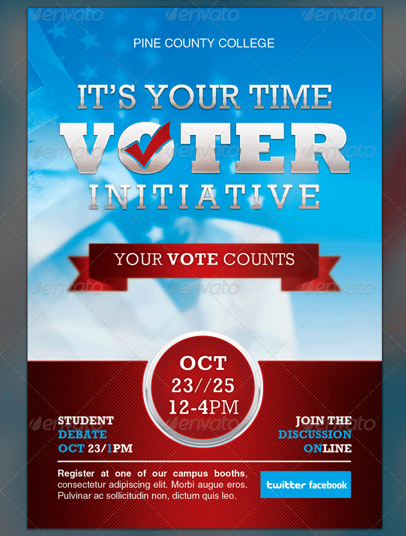 Political and voting flyer templates graphicmule for Voting flyer templates free
