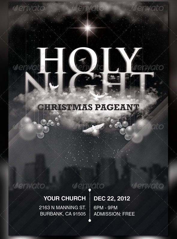 beautiful church christmas flyer templates