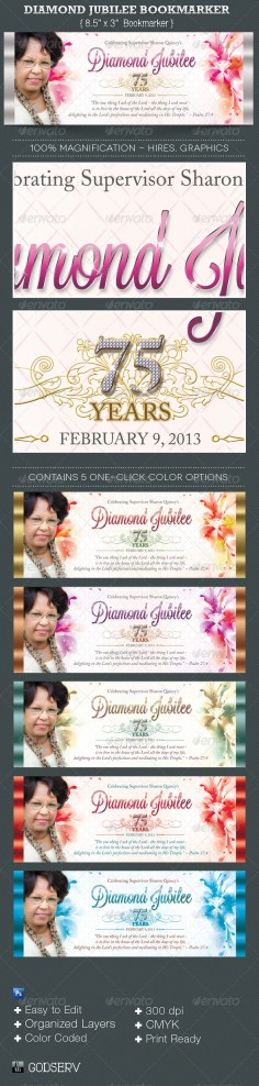 Bookmarker archives graphicmule diamond jubilee bookmarker template yadclub Gallery