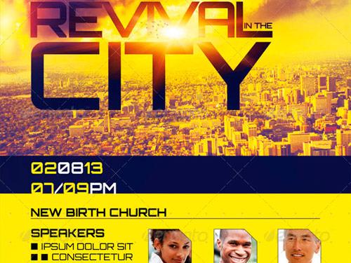 10 Fantastic Church Revival Flyer Templates Graphicmule