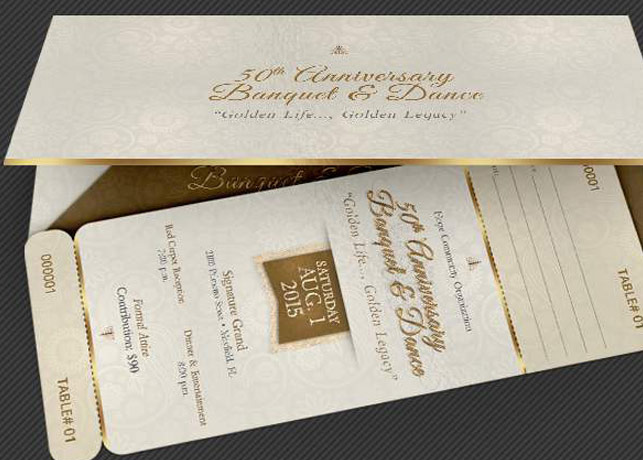 Anniversary Banquet Ticket and Jacket Template | GraphicMule