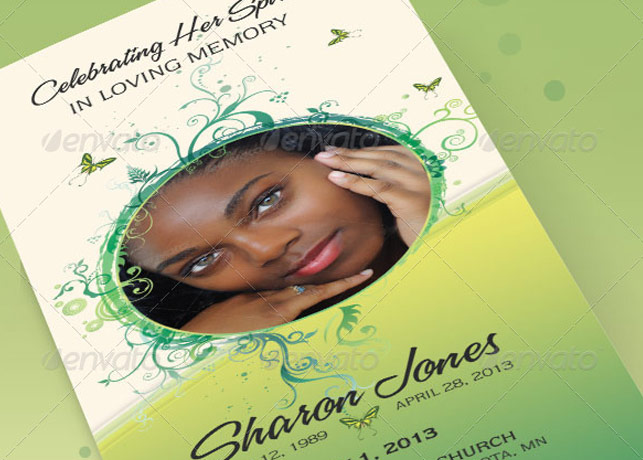 Decorative Tri-Fold Funeral Program
