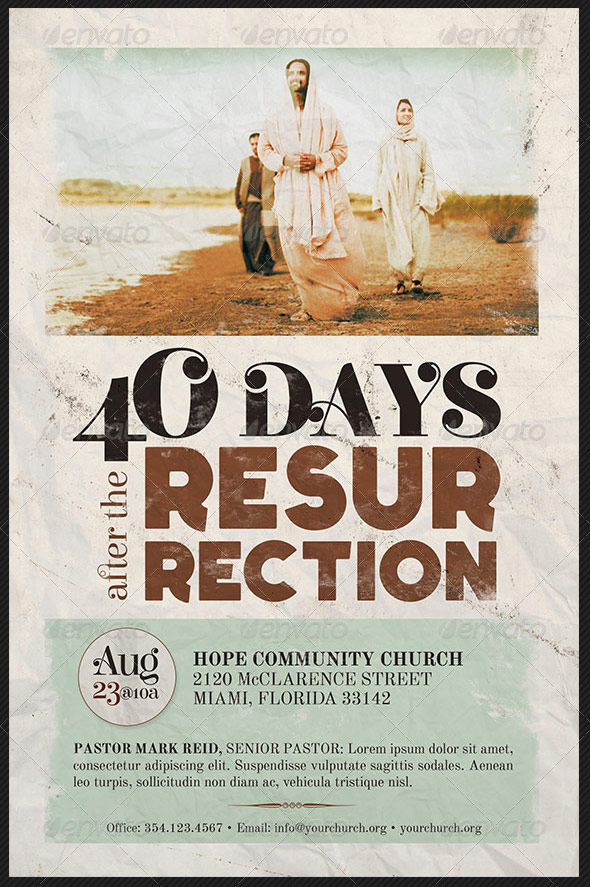 40 Days After The Resurrection Flyer Template