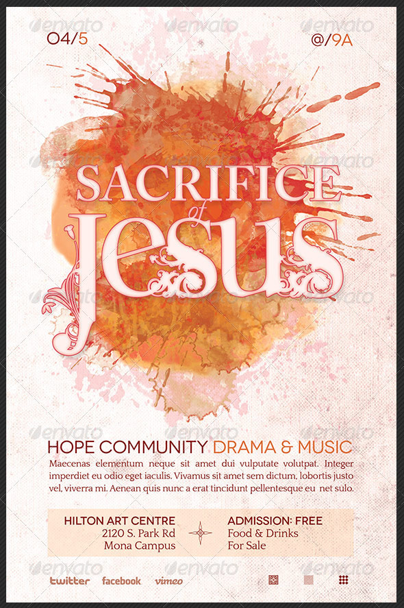 Sacrifice of Jesus Church Flyer Template
