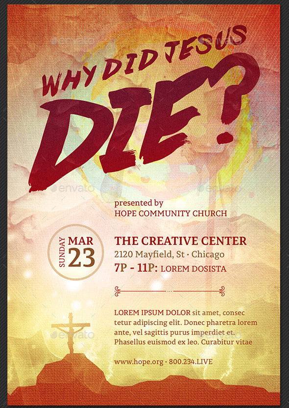 Why Did Jesus Die Church Flyer Template