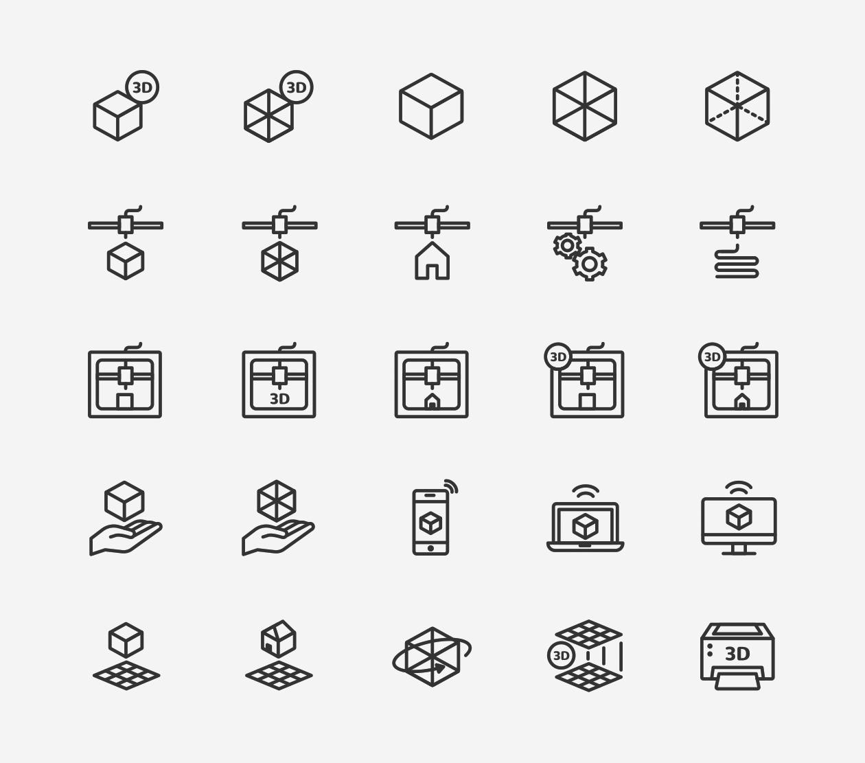 3d Printing Amp Printer Icons