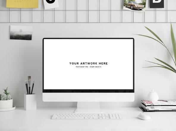 Workspace Scene Mockup Mac Screen
