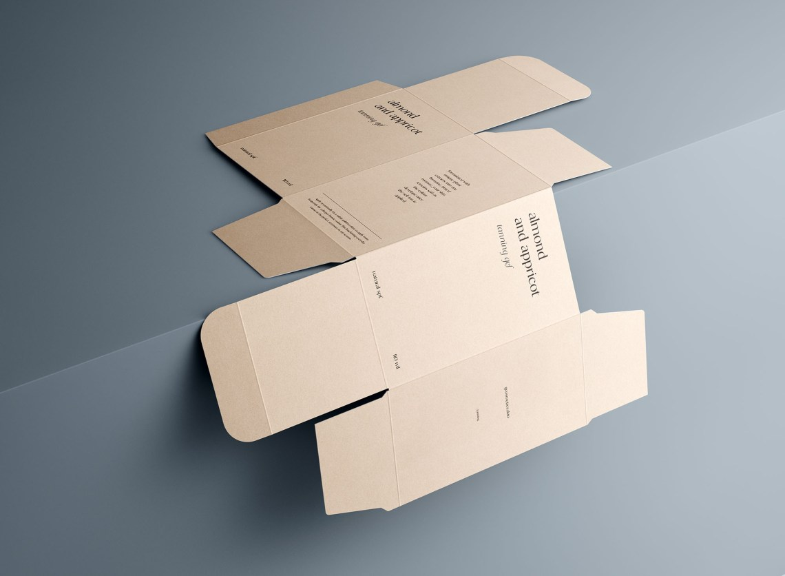 Download Unfolded Rectangle Box Mockup