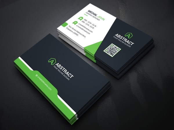Dark Elegant Business Card Template