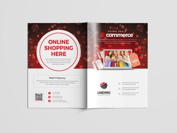 Shopping Center Professional Bi-Fold Brochure Template