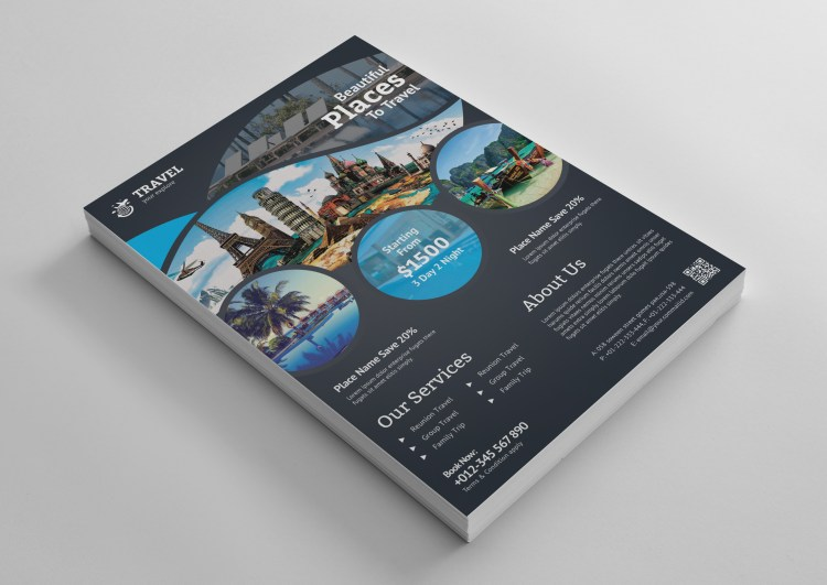 Travel Agency Flyer Template