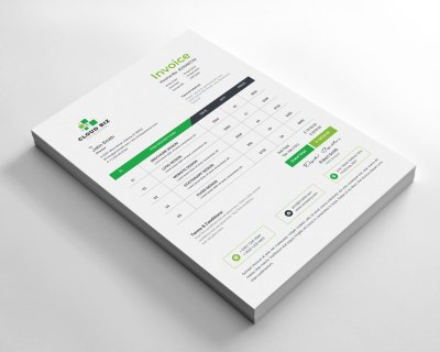 Pharmacy Corporate Invoice Design Template