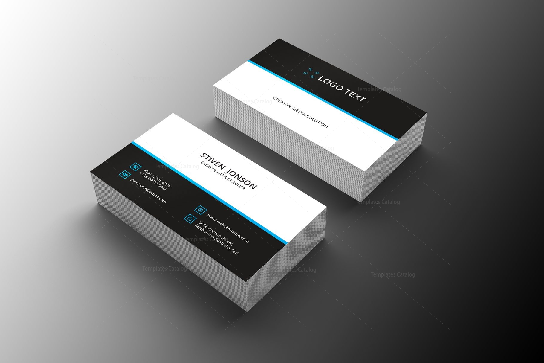 distributor professional business card design  graphic