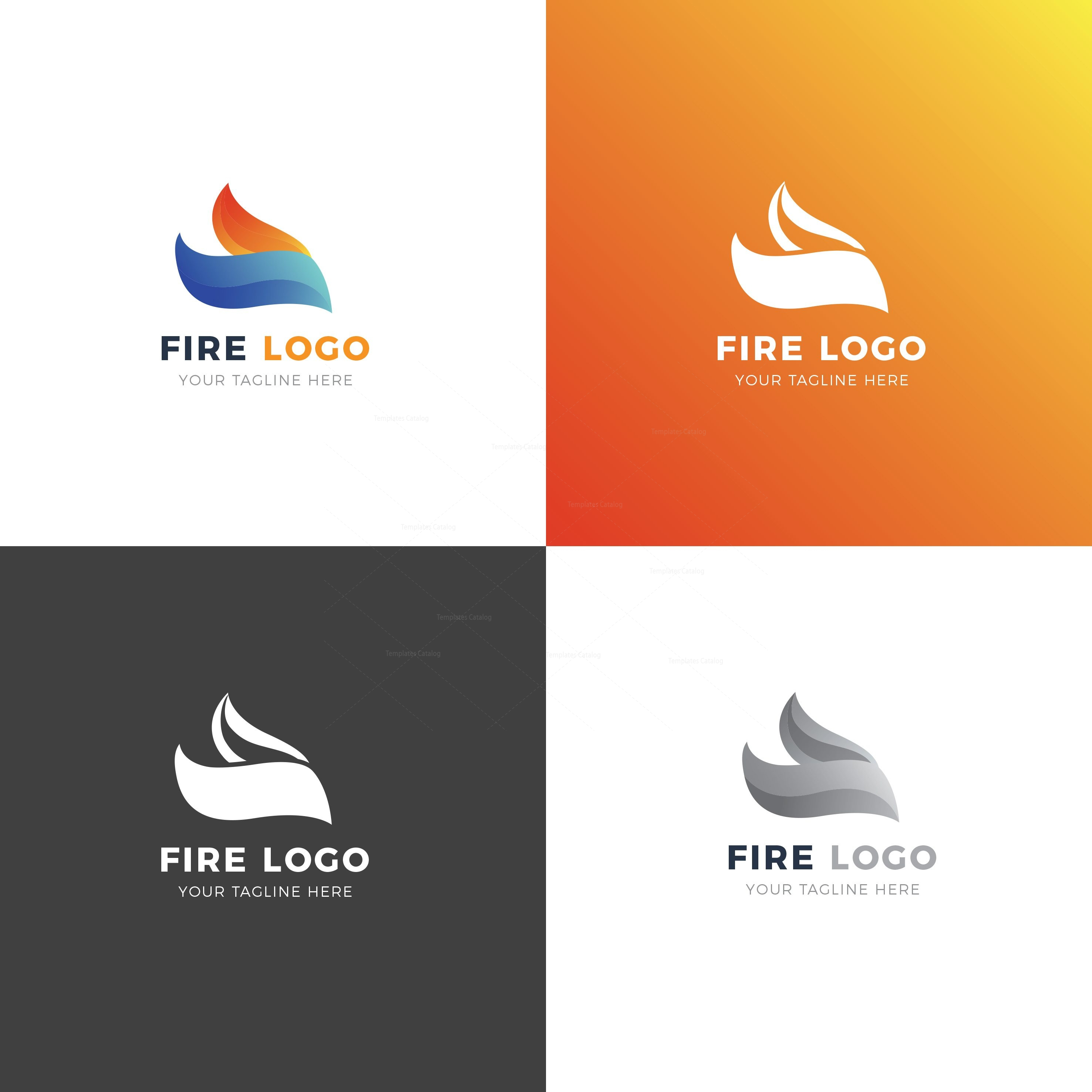 fire creative logo design template
