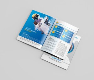 Blue Bi-Fold Brochure Design