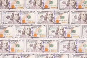Cash money dollar banknotes stock photo