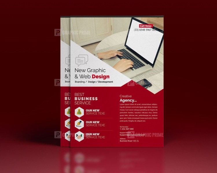 PSD Web Design Flyer Template
