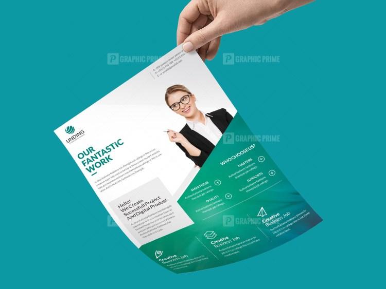 PSD Startup Flyer Template