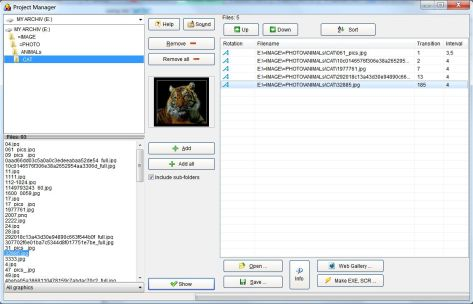 Portable photo slideshow - Project Manager