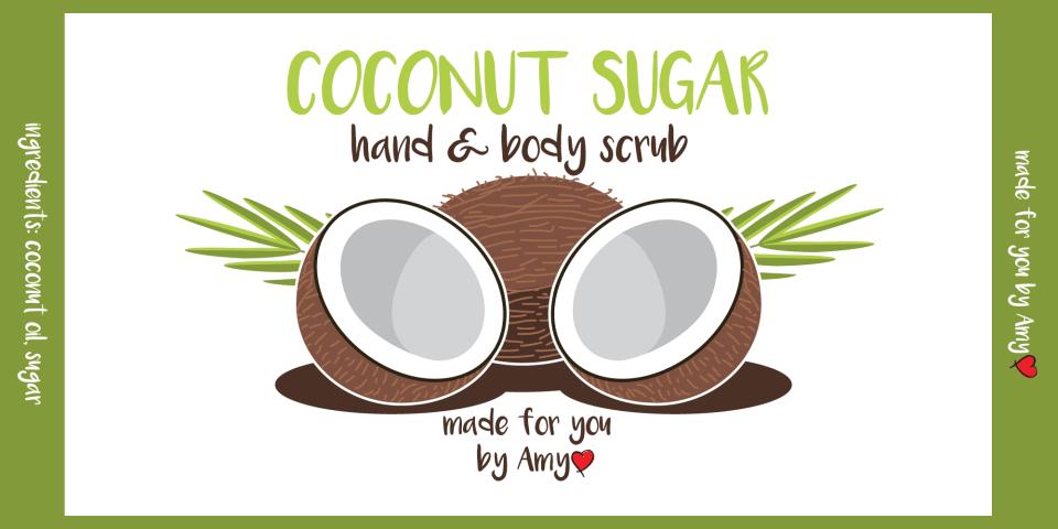 coconut scrub label