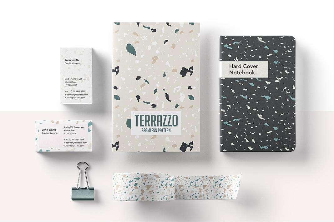 05 Terrazzo Seamless Vector Patterns