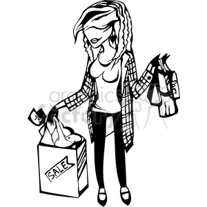 Lady Holding Shopping Bags Clipart Royalty Free Gif Jpg Png Eps Svg Pdf Clipart 384758