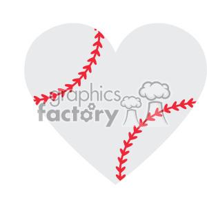 Download love baseball heart design svg cut file vector clipart ...